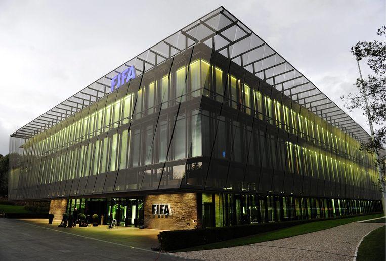 Het hoofdkantoor van FIFA in Zürich, Zwitserland. Beeld epa