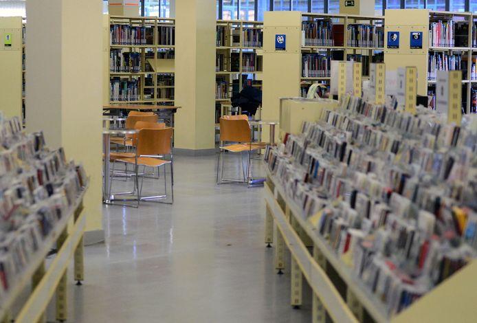 Illustratie bibliotheek in Leuven.