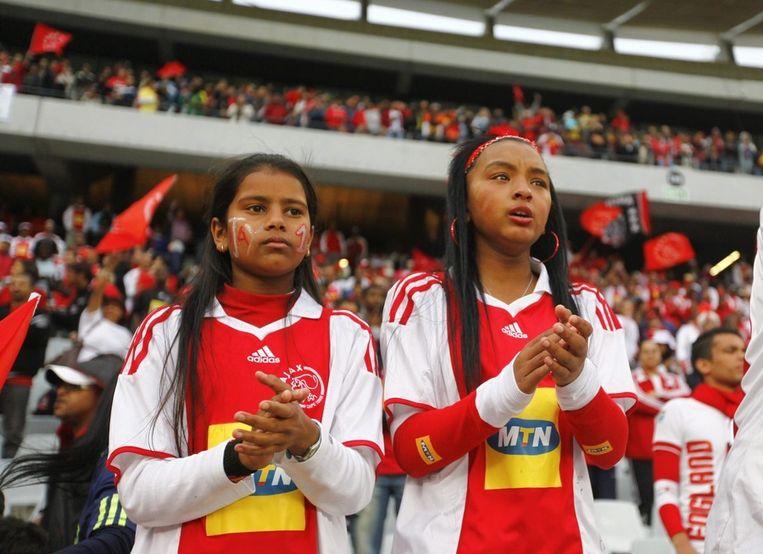 Supporters van Ajax Cape Town. Beeld ANP