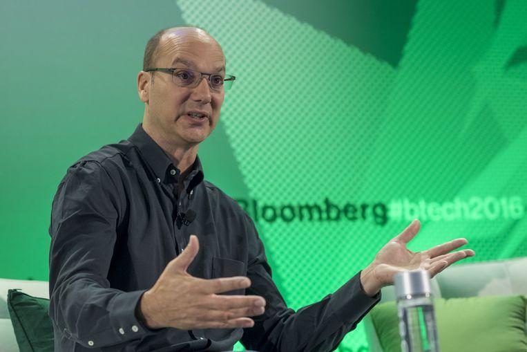 Andy Rubin tijdens een conferentie in San Francisco in 2016.  Beeld Bloomberg via Getty Images
