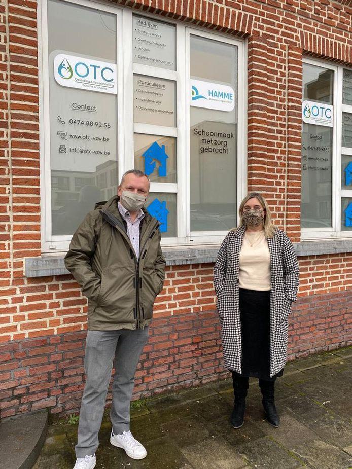 Schepenen Tom Vermeire (sp.a) en Ann Verschelden (CD&V) zijn tevreden met de samenwerking tussen het OCMW en OTC.
