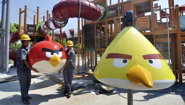In het Chinese Haining is er een attractiepark gewijd aan Angry Birds Beeld reuters