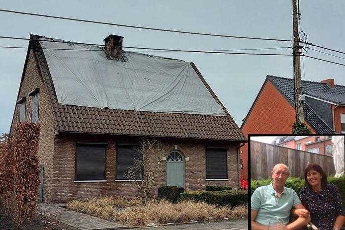 Het huis van Luc en Christine is volstrekt onbewoonbaar na de brand.