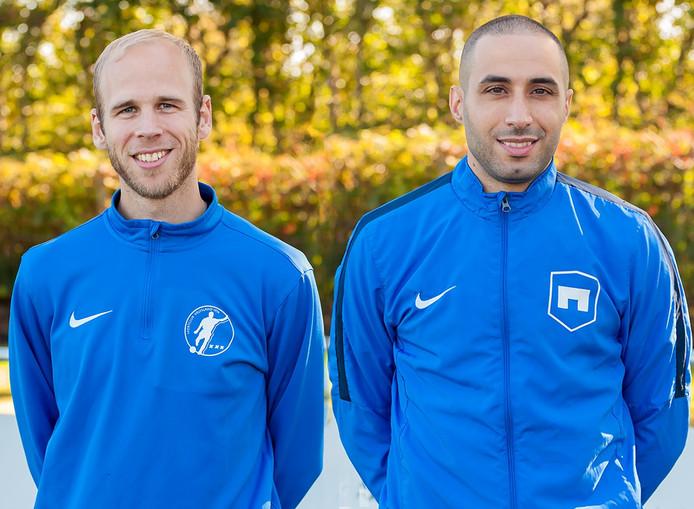 Kruisland-trainers Bram Plomp en Mounir El Fahmi