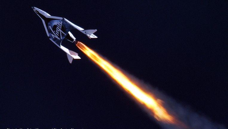 Het ruimtevliegtuig van Virgin. Beeld http://www.virgingalactic.com/