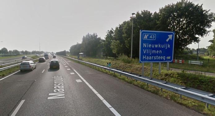 De A59 bij Nieuwkuijk en Haarsteeg.