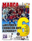 De cover van Marca deze ochtend.