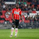 Jordan Teze tijdens het vriendschappelijke duel van PSV met PAOK Saloniki, midden juli.