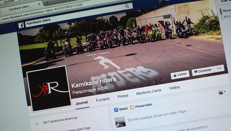 Facebookpagina van de 'Kamikaze Riders' motorbende, opgericht door Saïd Saouti. Beeld photo_news