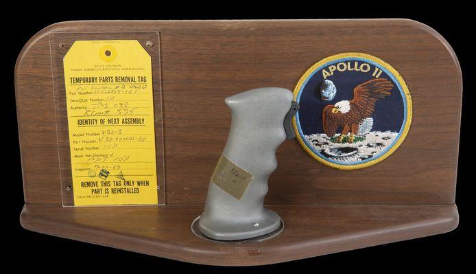 De joystick van de Apollo 11.