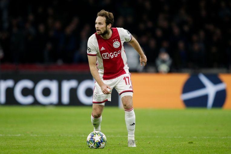 Daley Blind in de laatste Champions League-wedstrijd van Ajax van vorig seizoen, tegen Valencia. Beeld BSR Agency
