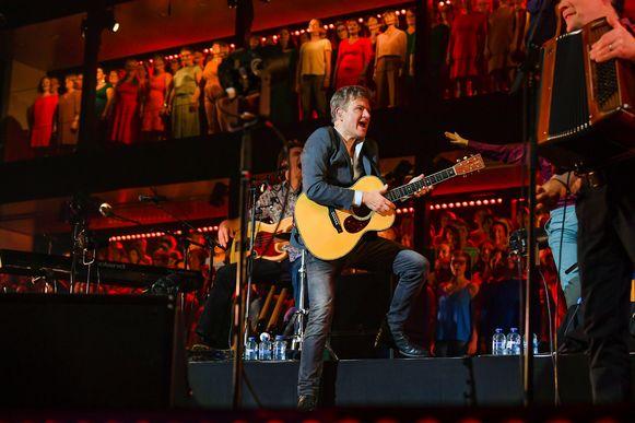 Bart Peeters in november 2019, tijdens een van z'n shows in de Lotto Arena.