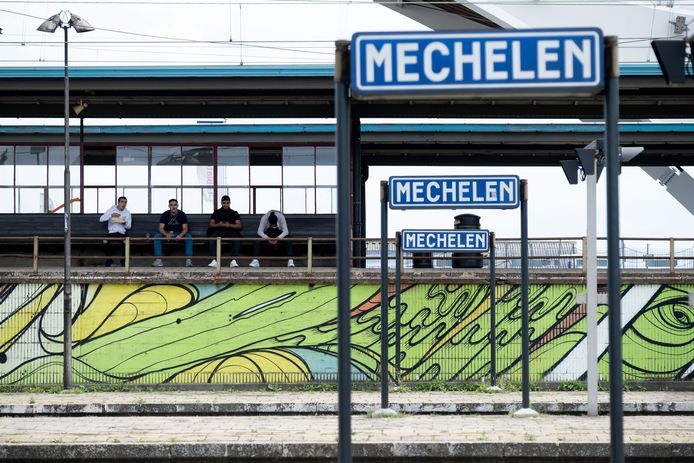 Het station in Mechelen.