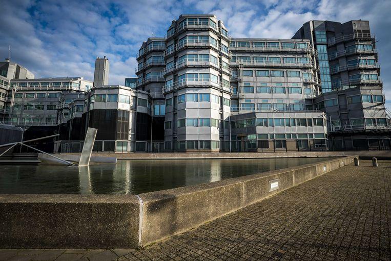 Het gebouw van  de  Algemene Inlichtingen- en Veiligheidsdienst (AIVD) in Zoetermeer.  Beeld ANP