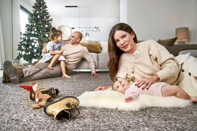 Roberto Martinez met zijn gezin.