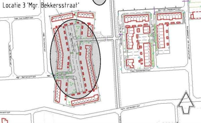 Tekening van de gemeente Waalwijk.