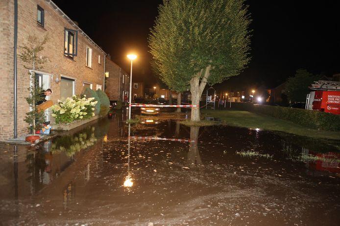 Net tot aan de drempel. Daardoor loopt het huis van Angelique Smits voor de verandering een keer níét onder water.