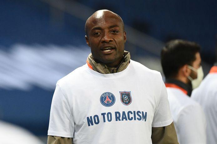 Pierre Webó op woensdagavond, toen PSG - Basaksehir (5-1) nog werd uitgespeeld.