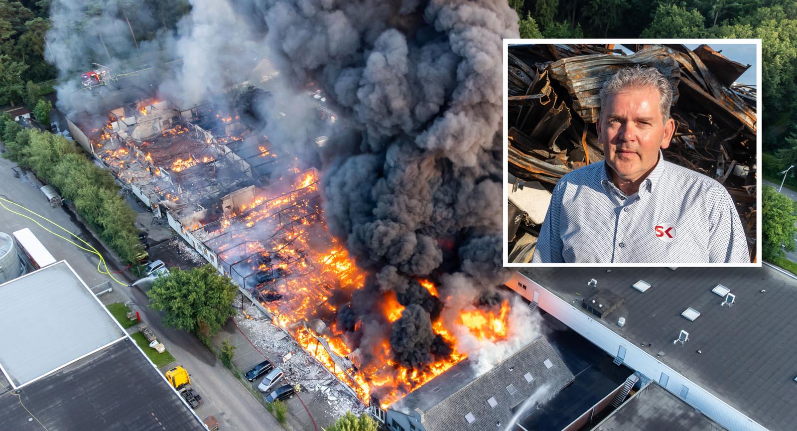 De vuurzee zorgde voor veel schade in Soesterberg. Inzet: Vincent Dijker.