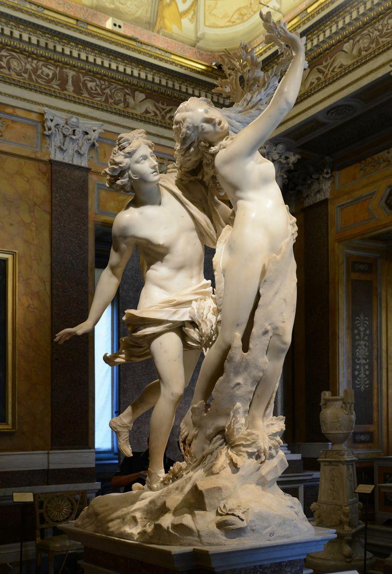 null Beeld Apollo and Daphne by Giancarlo Bernini. Galleria Borghese, Roma
