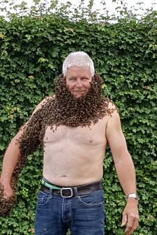 Baard van tienduizenden bijen: 'Schrik heb ik niet gehad'
