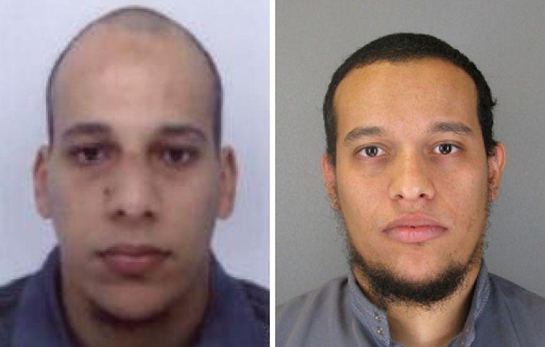 Chérif (32, links) en Saïd K. (34), niet de getrainde Syriëstrijders voor wie ze aanvankelijk gezien werden. Beeld AFP