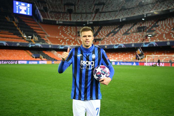 Josip Ilicic mag de bal houden na zijn vier goals voor Atalanta.