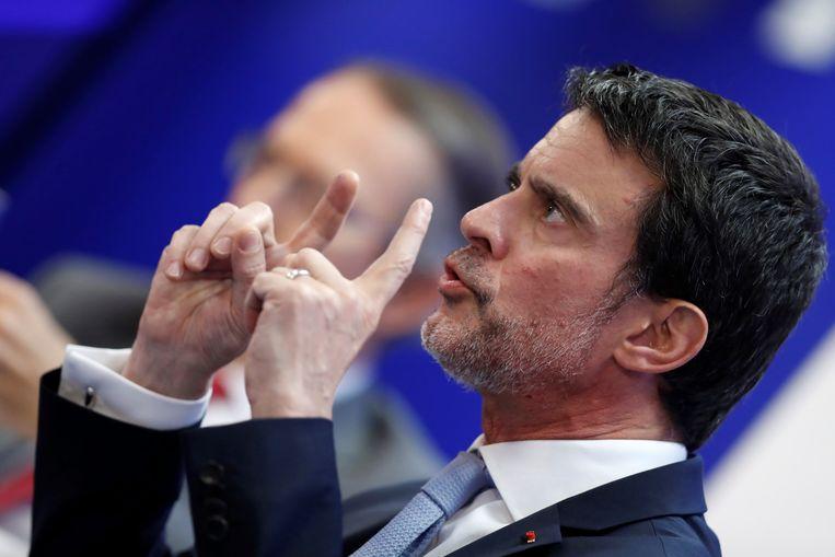 De voormalige Franse premier Manuel Valls.  Beeld EPA