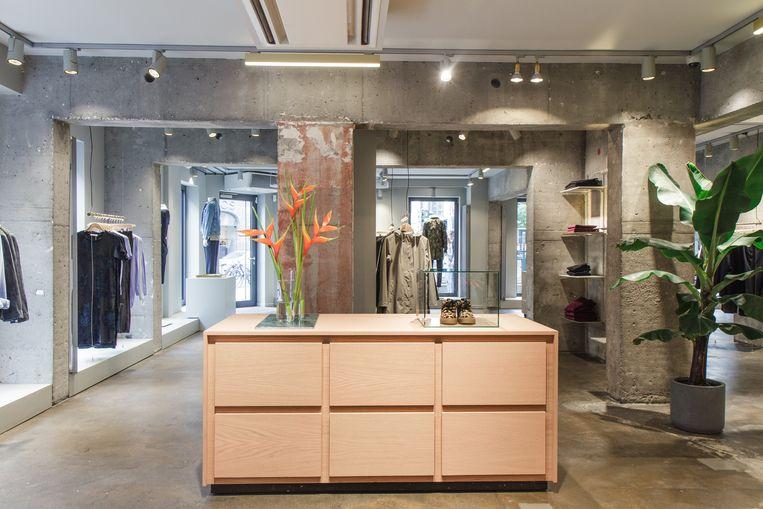 De winkel in Antwerpen.
