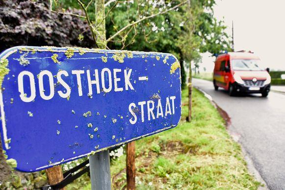 De brandweer snelde naar de Oosthoekstraat in Kanegem.