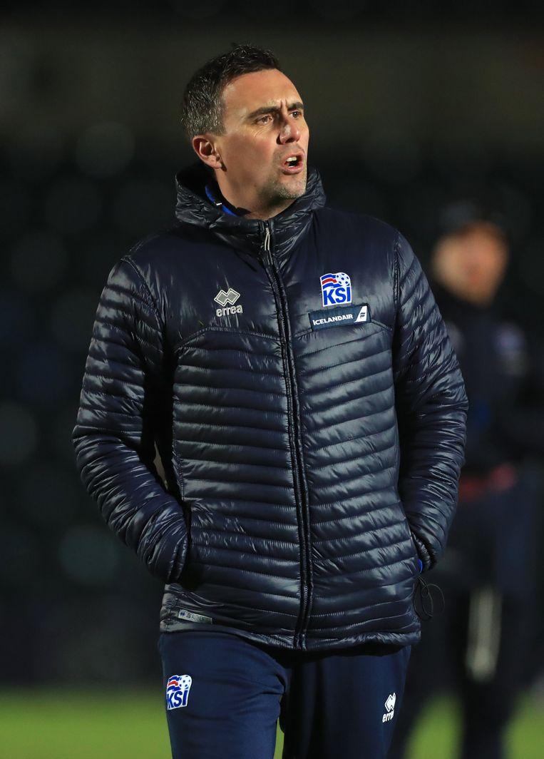 """Net nu is 'halve Vlaming' en voetbalanalist Arnar Vidarsson bondscoach van IJsland: """"Ik heb er nooit aan gedacht om ondanks deze tegenspoed een stap opzij te zetten"""", zei hij tegenover de IJslandse media. """"Omdat ik niet trotser op mijn werk kan zijn."""