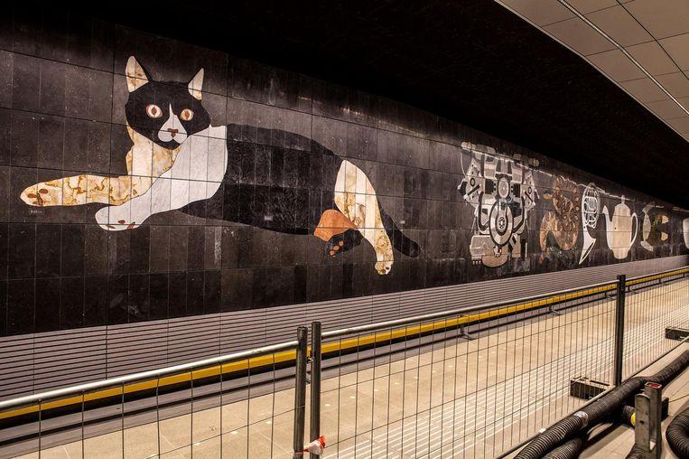 Met de Noord/Zuidlijn krijgt Amsterdam er ook een kunstcollectie bij. Beeld Jorrit 't Hoen.