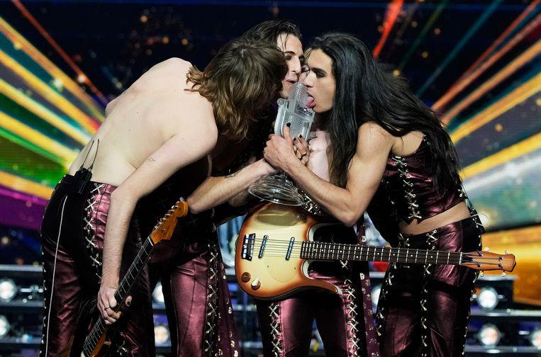 Winnaar Eurovisie Song Festival 2021 - Måneskin uit Italië   Beeld Brunopress