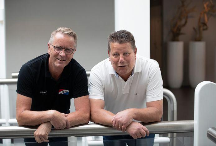Henk Groote (links) en Rob Mos waren samen met collega-raadslid Ingrid Wolsing de hoofdpersonen in een onderzoek naar 'vermoedens van schending van een geheimhoudingsplicht'.