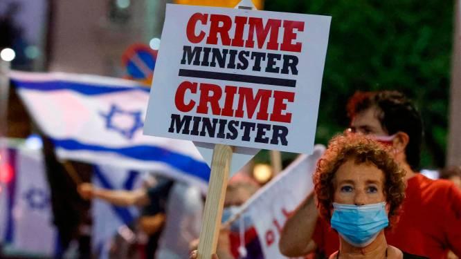 Duizenden Israëli's demonstreren tegen van corruptie beschuldigde Netanyahu