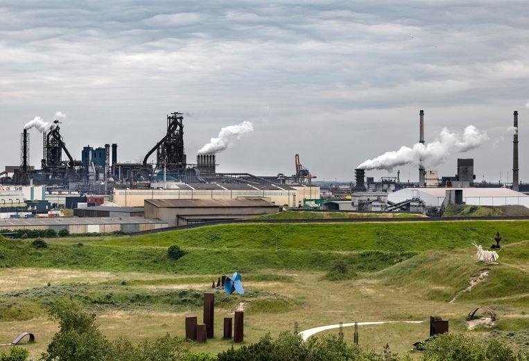 Tata Steel in IJmuiden.  Beeld Hollandse Hoogte / Ramon van Flymen