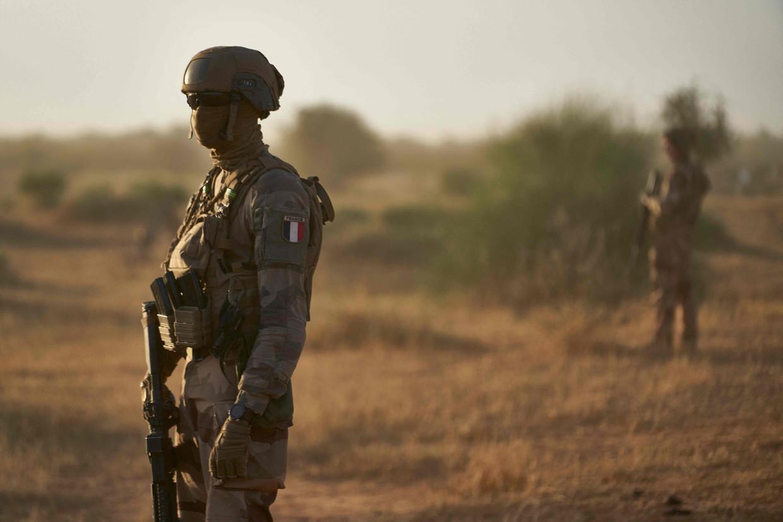 Franse militairen in een Malinees dorp. Beeld AFP