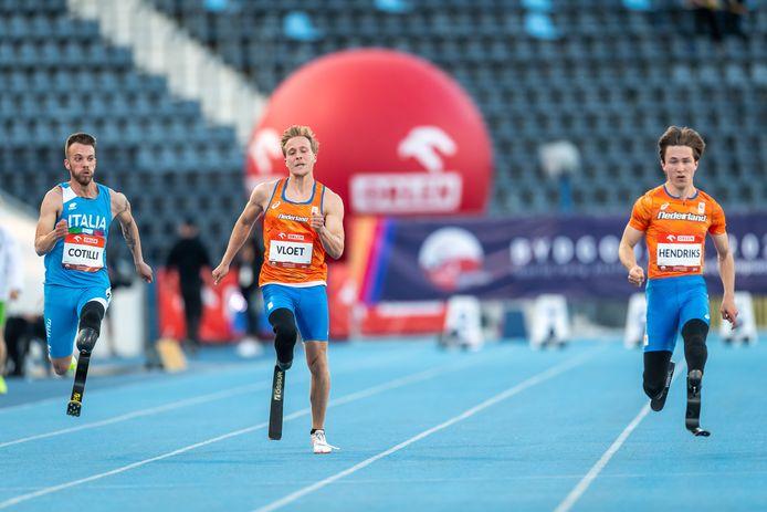 Levi Vloet op de Paralympische Spelen in Tokio.