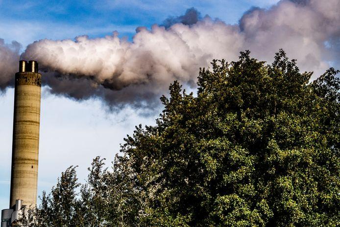 CO2 -uitstoot in de haven van Amsterdam.