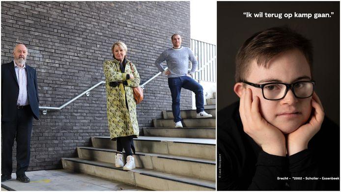 Lieve Blancquaert (centraal) zette Hallenaren zoals Brecht (rechts) op de foto voor de reeks Allemaal Hallenaren.