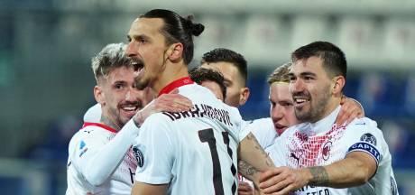AC Milan dankzij goals Zlatan weer alleen aan kop in Serie A
