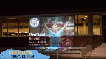 VIDEO: City eert zijn kampioenen met projecties over de hele wereld en daar zijn ook drie Belgische steden bij
