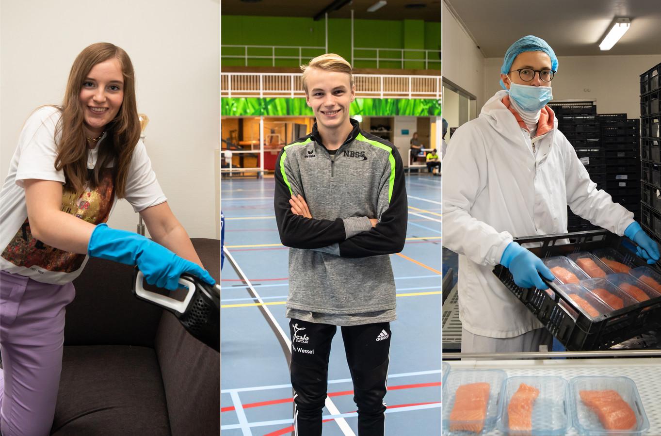 Lieke Prins (19), Matthijs van Wessel (18) en Erik Heijnen (18) kwamen ondanks de coronacrisis toch aan de bak.