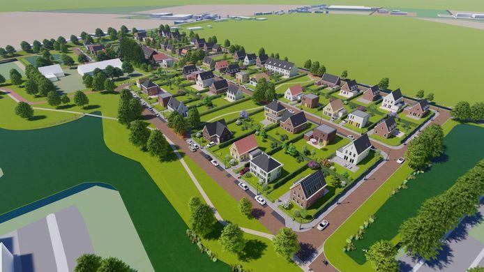 Artist's Impression van hoe Waterwijk Fijnaart eruit moet gaan zien.