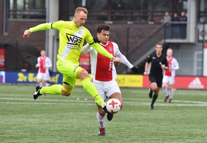 Gert-Jan van Leiden (links) maakte dit jaar zijn afscheid als voetballer bekend.