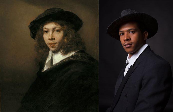 Rembrandt van Rijn, 'Portret van een jonge man', 1666.