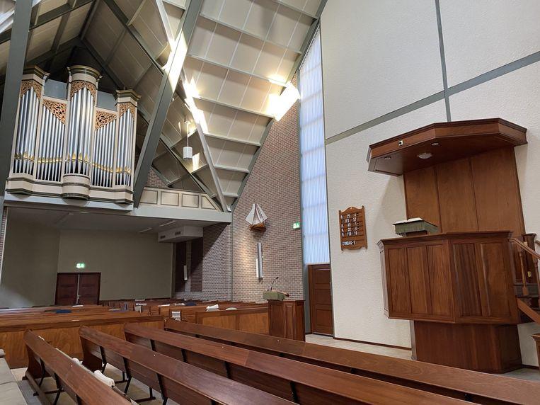 Interieur van de Sionkerk op Urk. Beeld GG Urk