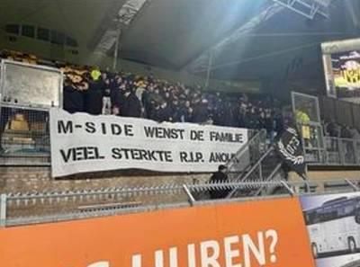 Steunbetuigingen na overlijden van Anouk:  herdenkingshoekje op werkplek en spandoek in stadion