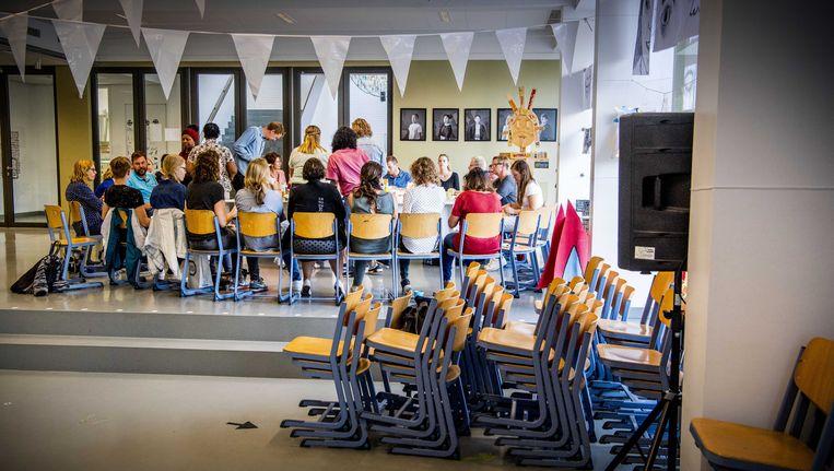 Basisschoolleraren legden in juni vorig jaar het werk neer uit protest tegen het lerarentekort, de werkdruk en de lage salarissen. Beeld anp