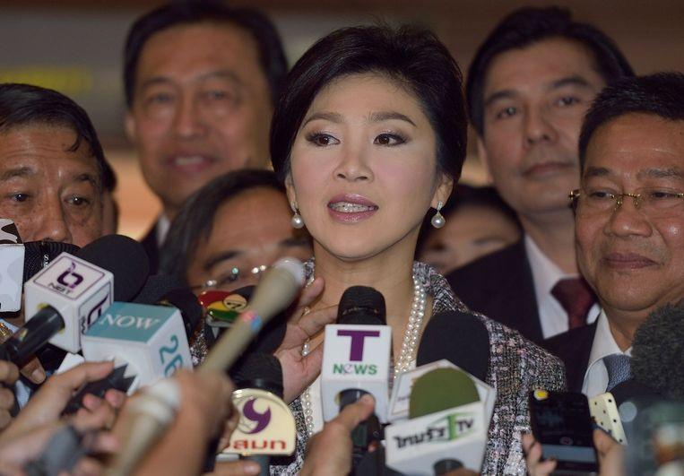 De afgezette premier van Thailand Yingluck Shinawatra Beeld anp